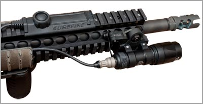AR-15 with Flashlight Mounted